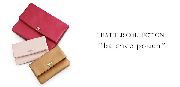 "LEATHER COLLECTION ""balance pouch""; ?>"